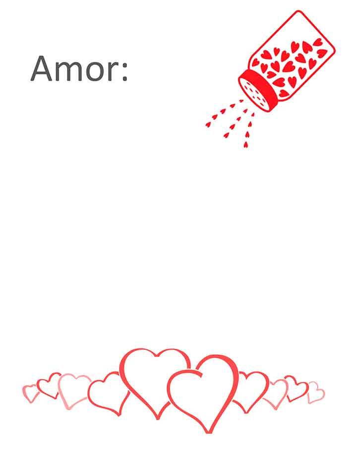 modelo de carta de amor para descargar