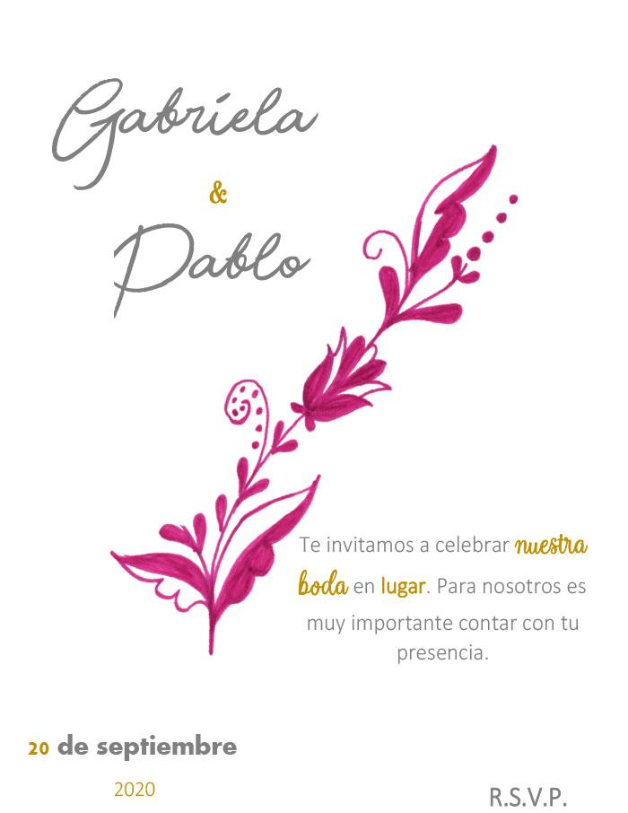 tarjeta de invitación para boda