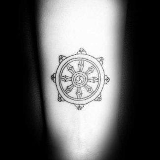 tatuaje rueda dharma significado